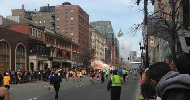 Boston Marathon Man On Roof Featured