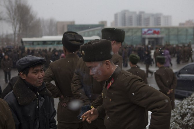 North Korea Soldier Smoking - Pyongyang