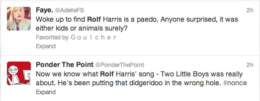 Rolf Harris Tweets 1