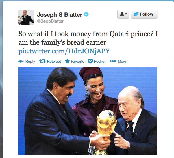 Sepp Blatter Twitter Hack 1