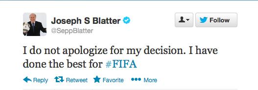 Sepp Blatter Twitter Hack 5