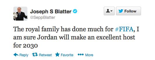 Sepp Blatter Twitter Hack 9
