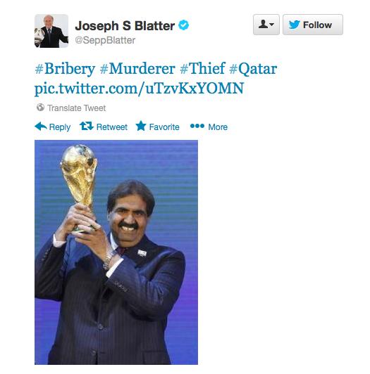 Sepp Blatter Twitter Hack 13