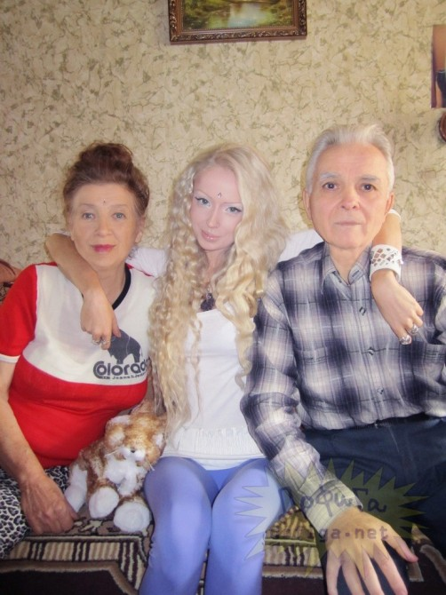 Valeria Lukyanova - With Grandparents