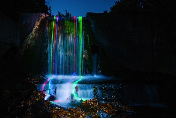 Neon Waterfall 5