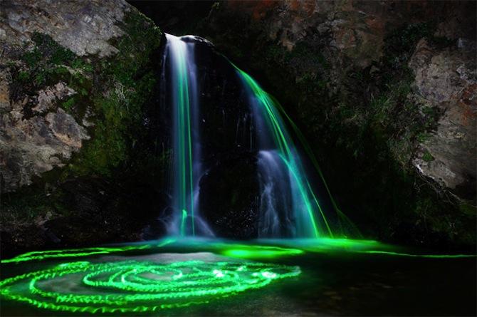 Neon Waterfall 4