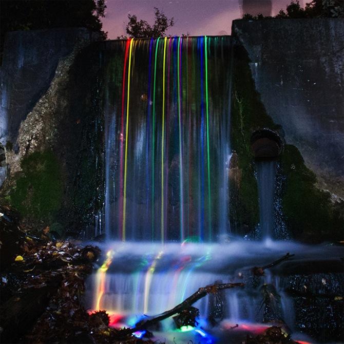 Neon Waterfall 3