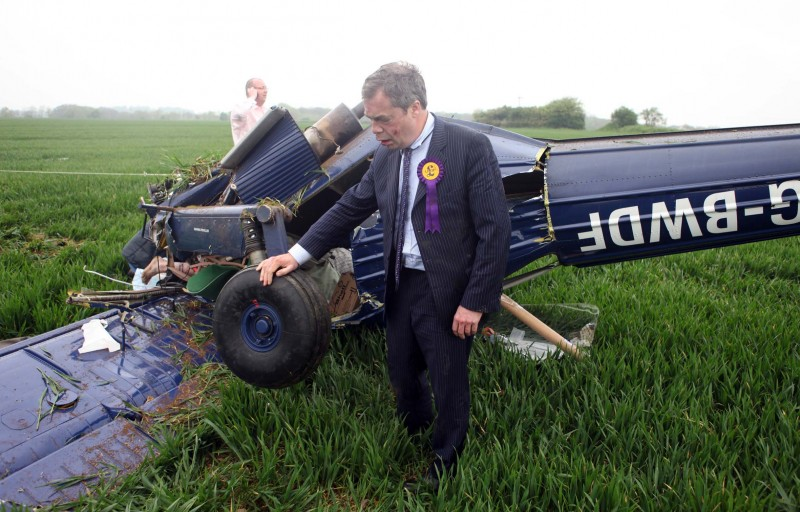 Farage Plane Crash