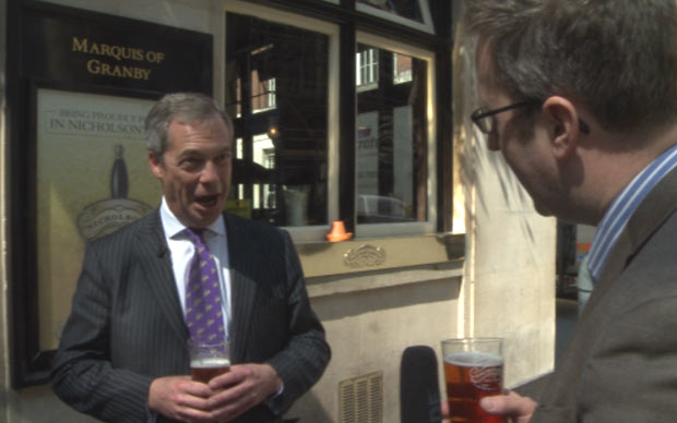 Farage drink 4
