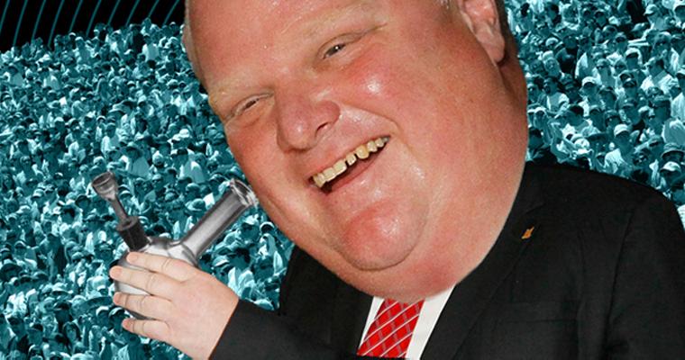 Mayor of Toronto Smoking Crack