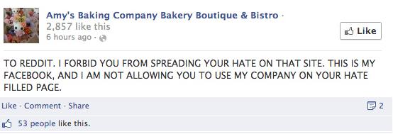 Amy's Baking Company Meltdown 4