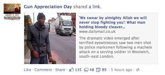 Woolwich Facebook Reaction 4