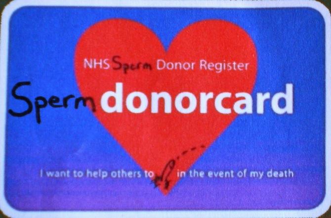 Sperm Donor Card