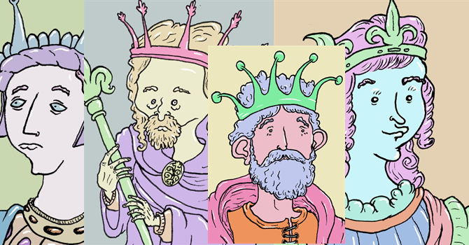 The First Monarchs of England - Painting
