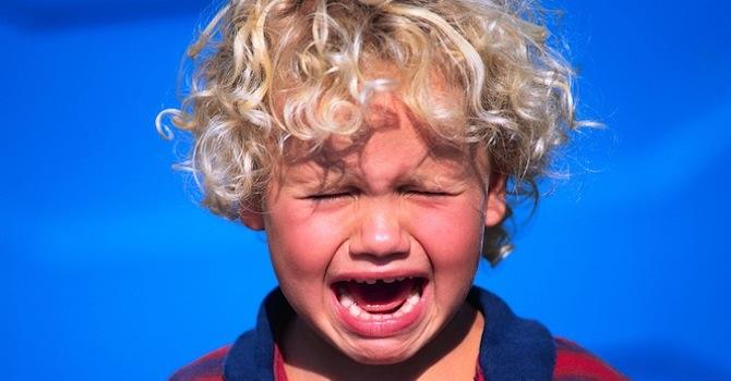 Blonde Boy Crying