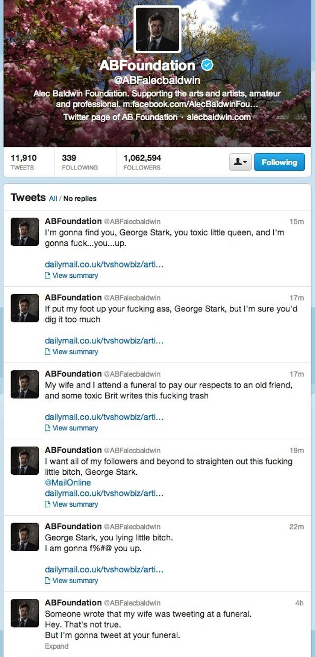 Alec Baldwin Twitter Meltdown