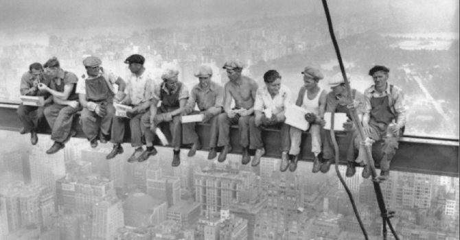 Famous Builders On Crane In New York Picture