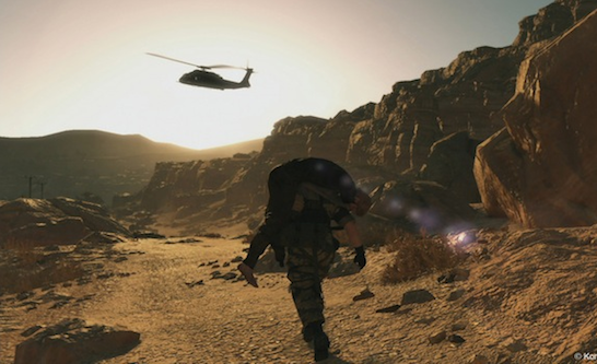 Kaz rescuing Snake in MGSV