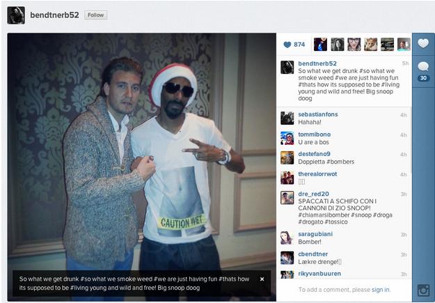 Nicklas Bendtner Snoop Dogg