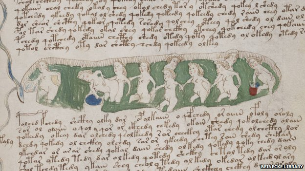Voynich Manuscript - Women Bathing Naked