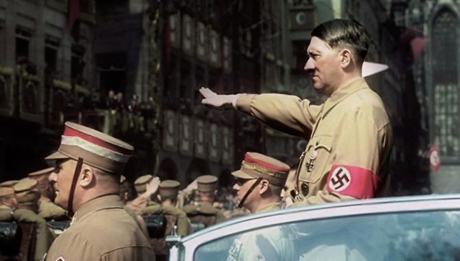Hitler Salute Colour