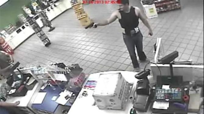 Drunk Cop Pulls Gun On Shopkeeper