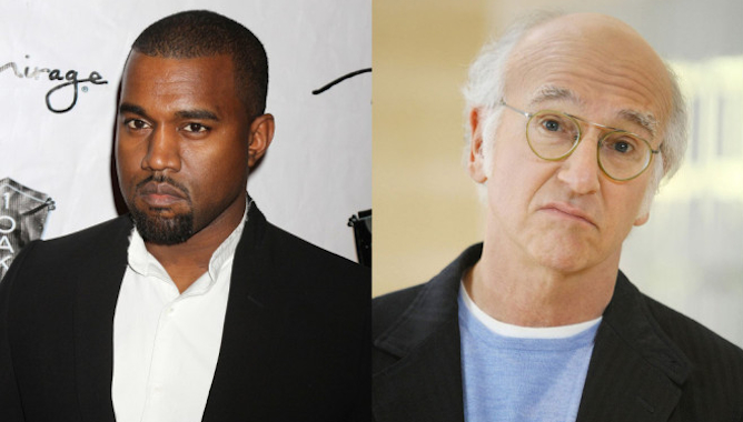 Kanye West Larry David