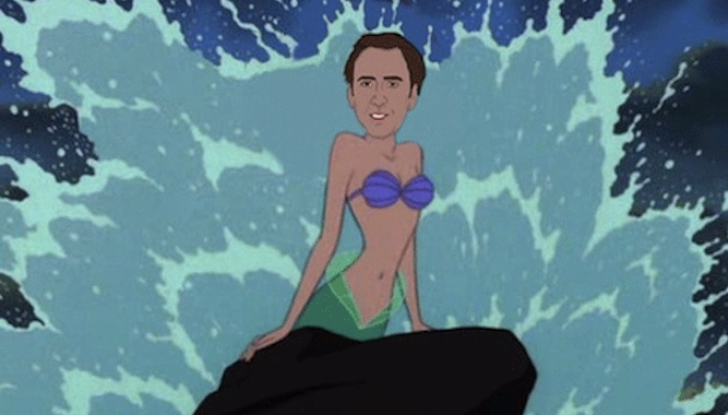 Nicolas Cage Disney Princesses