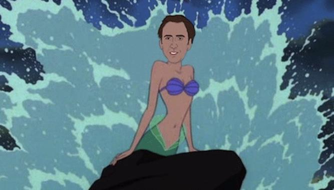 Nicolas Cage Disney Princesses