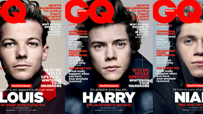 One Direction GQ Covers