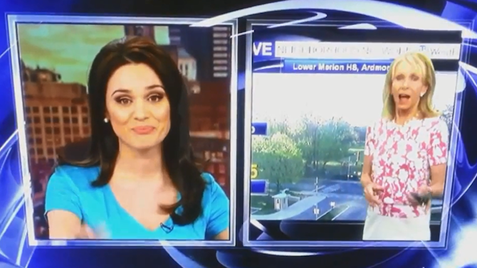 Philadelphia News Anchor And Weather Girl Absolutely Hate