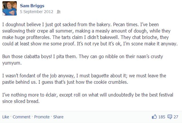 Bakery Status