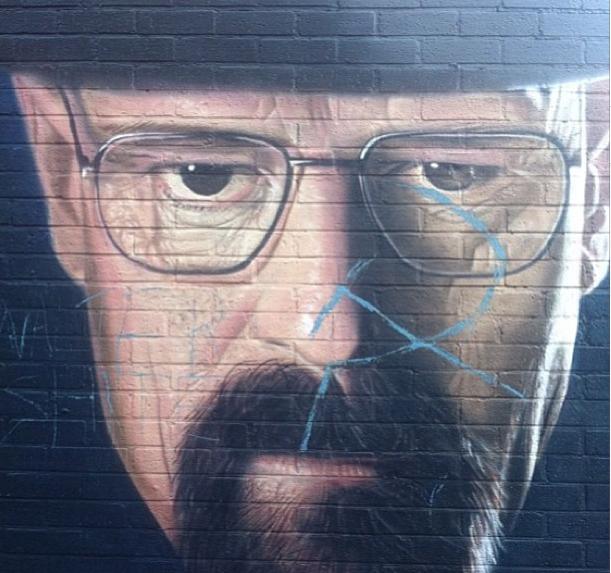 Breaking Bad Graffiti Vandalised