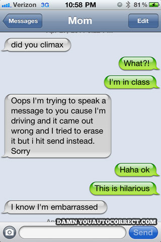 Did you climax autocorrect