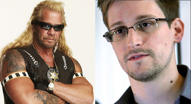 Dog The BOunty Hunter Edward Snowden