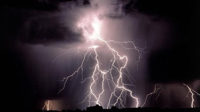 Lightning Hitting Train