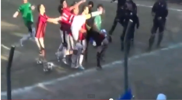 Referee Kicked In Face