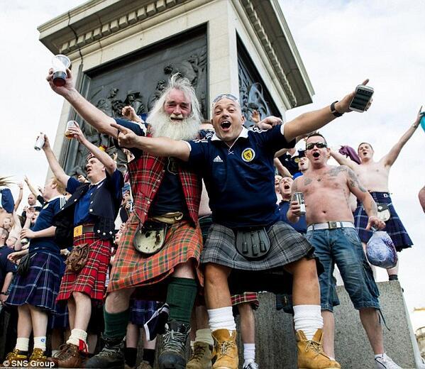 Scots Trafalgar Square 1
