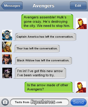 Text From Superheroes 4