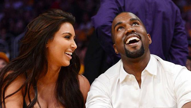 Kanye West and Kim Kardashion
