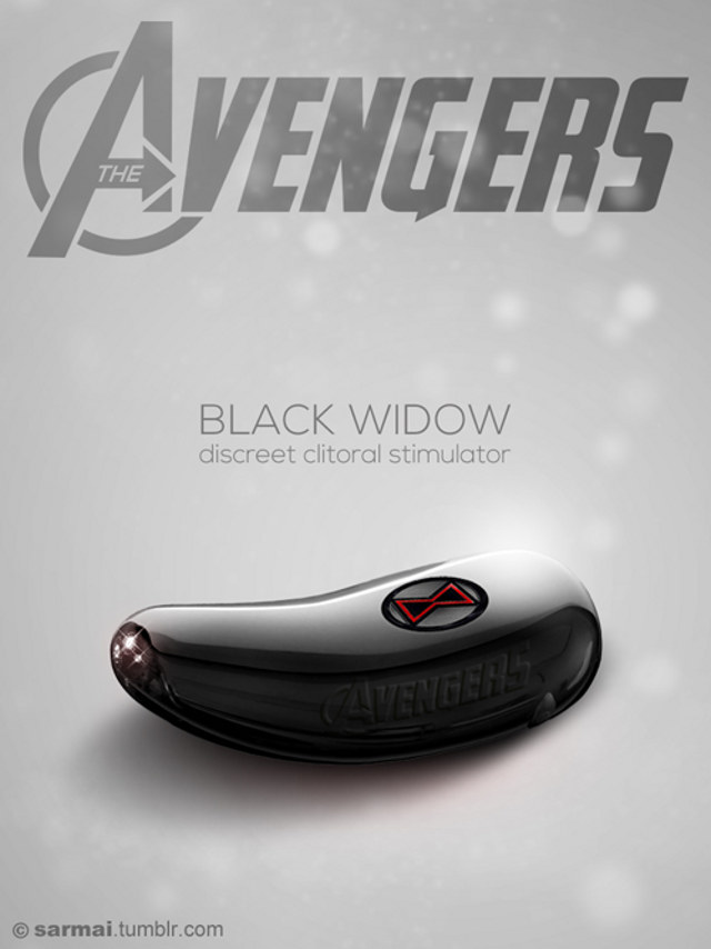 BLACK WIDOW DILDO