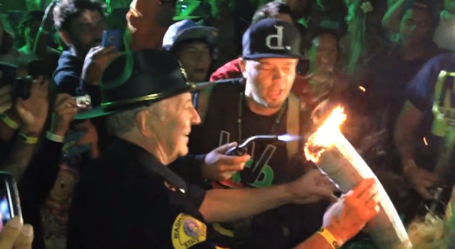 Cop Helps Stoner Light Joint