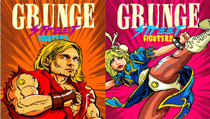 Kurt Cobain Courtney Love Street Fighter