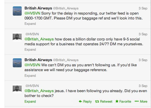 British Airways Customer Tweets 2