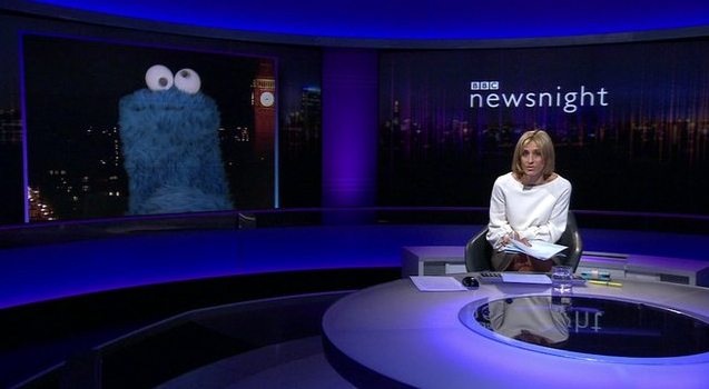 Cookie Monster Newsnight