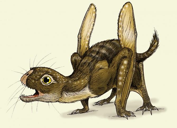 Dinosaur - Weirdest Strangest Coolest - Jeholopterus painting 2