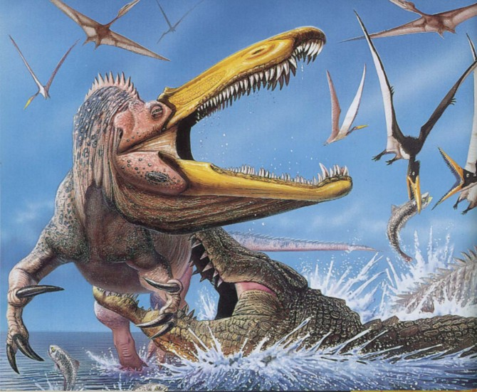 Dinosaur - Weirdest Strangest Coolest - Suchomimus and Pterosaurs
