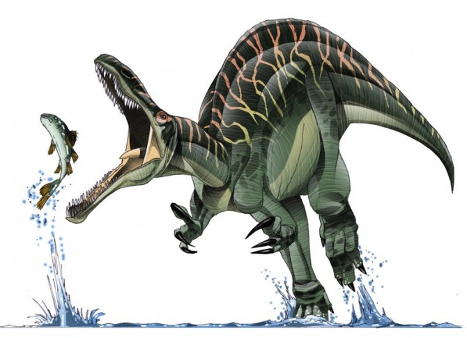 Dinosaur - Weirdest Strangest Coolest - Suchomimus cartoon