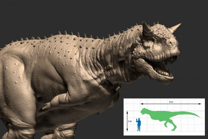 Dinosaur - Weirdest Strangest Coolest - carnotaurus - tiny arms