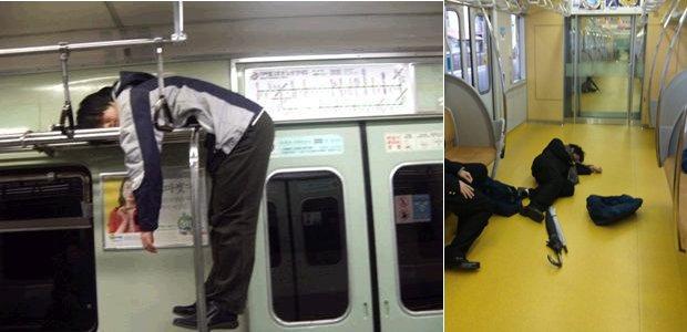 Falling Asleep On The Japanese Tube 11